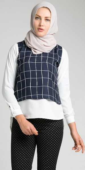 Gambar Baju Muslim Kerja Casual