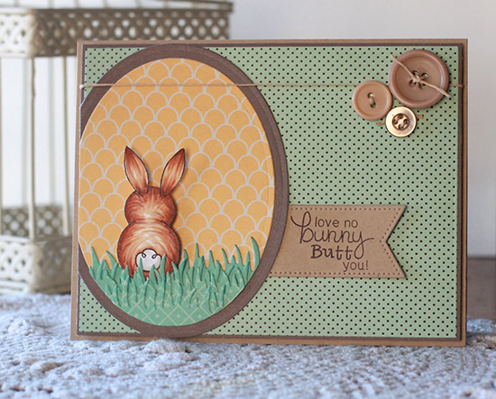Easter Bunny Butt Card by Angel Rivera | Bunny Hop Stamp set by Newton's Nook Designs