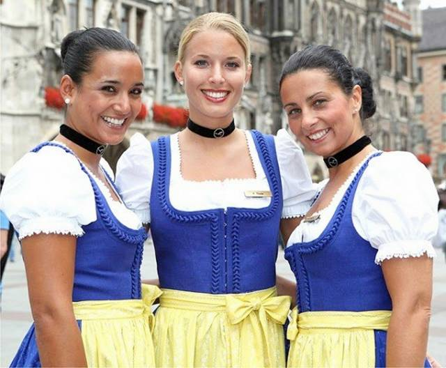 20Germany252CLufthansa252CfestiveattireforattendantsOktoberfestAirHostess - Air Hostess From Different Countries