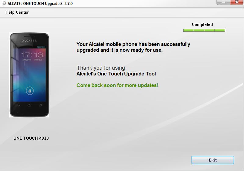 Скачать Алкатель One Touch Upgrade