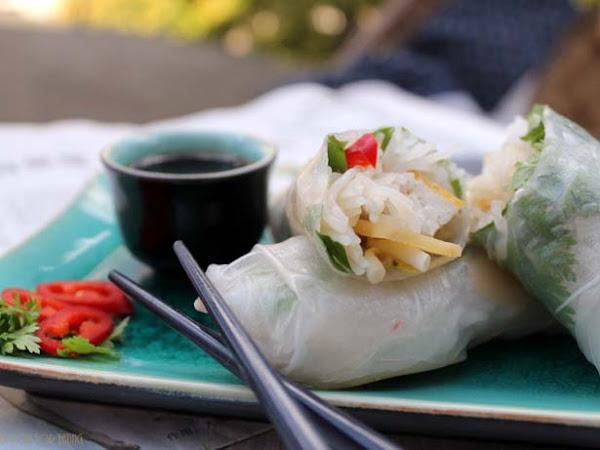Wenn es endlich mal wieder warm wird - Sommerrollen mit frittiertem Tofu