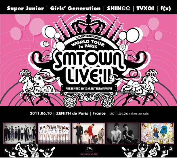 SMTown live 2011 in Paris affiche