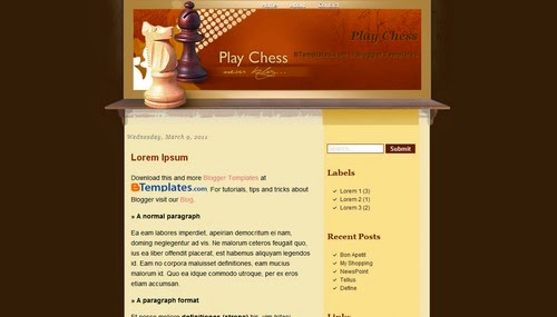 Play Chess - Free Blogger Template