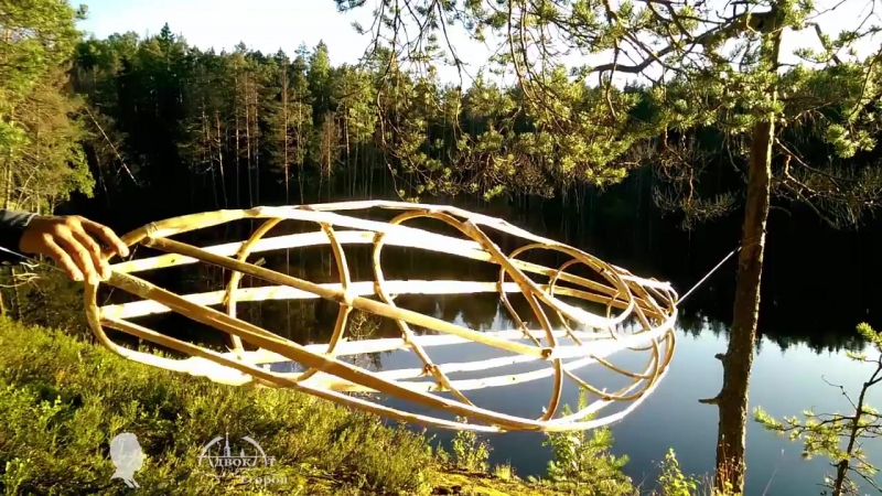лодка изо  прутьев