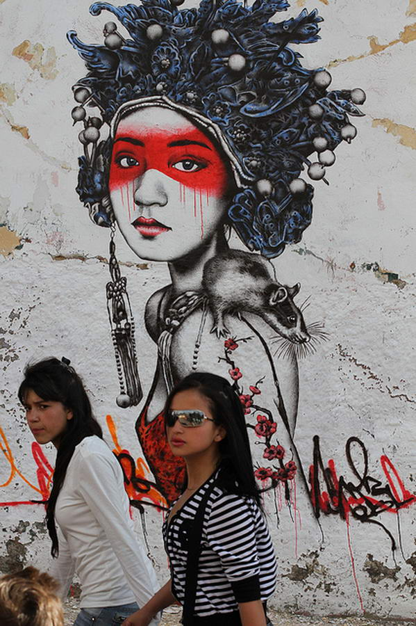 Beautiful Street Art Portraits By Fin Dac