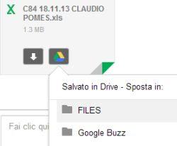 salvare allegati gmail in Google Drive
