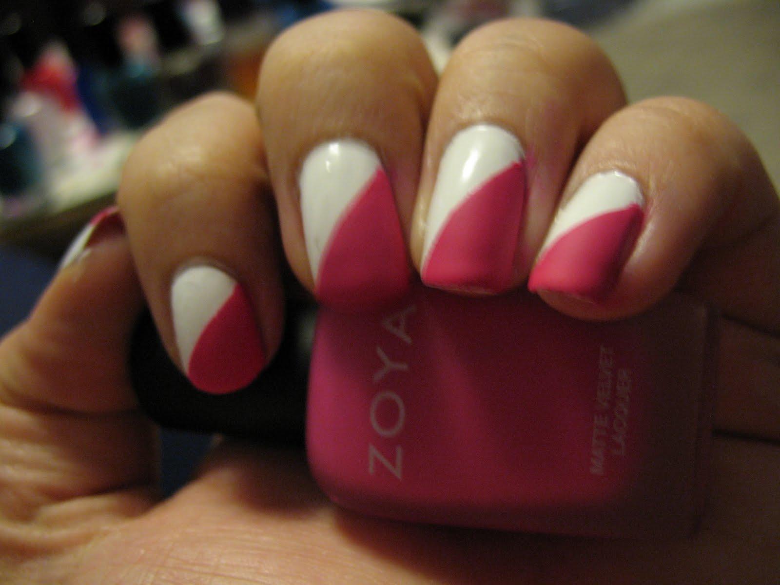 An Angled French nail art #nailart #makup #Angled_French_nail | يباب.كوم