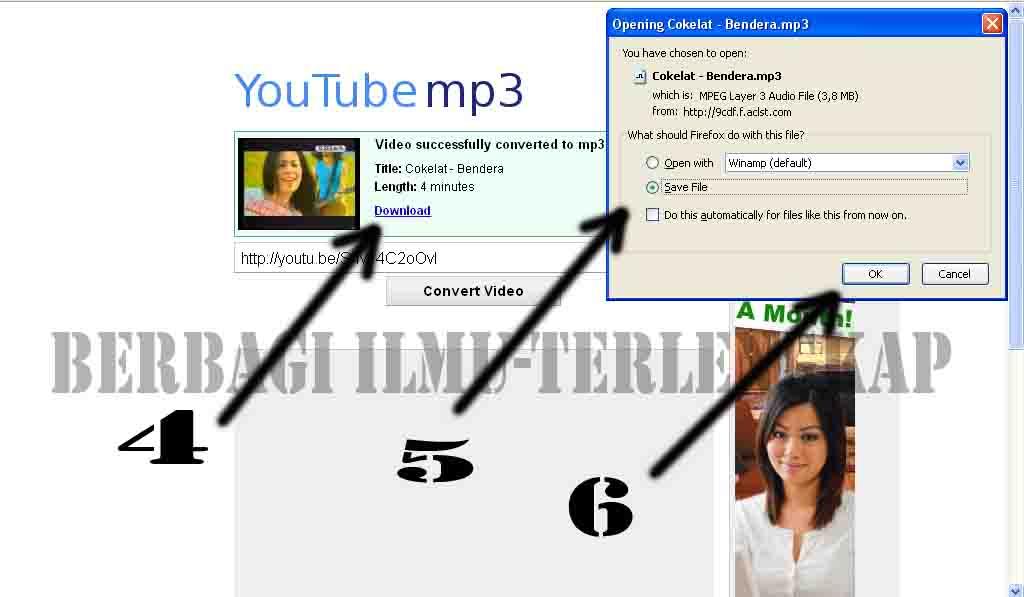 Cara mendownload mp3 yang mudah di pahami 2014