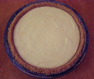 Uncooked Lemon Pie from Above