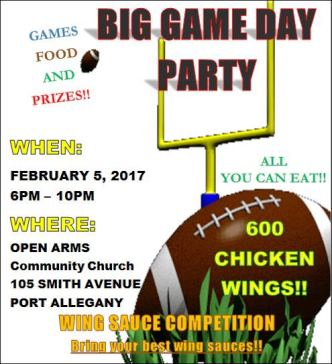 2-5 Big Game Day Party Open Arms Church