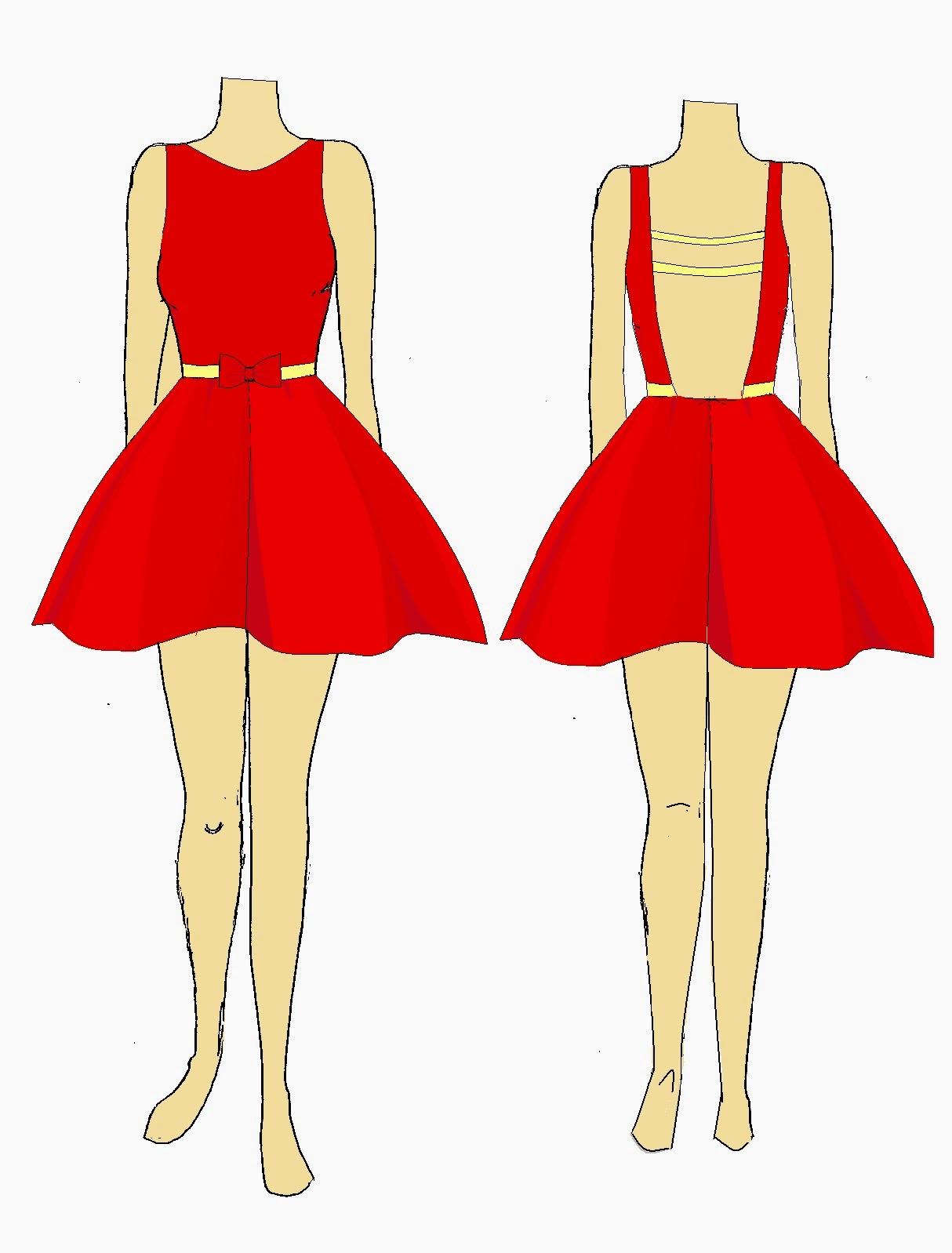Como dibujar vestidos faciles y bonitos