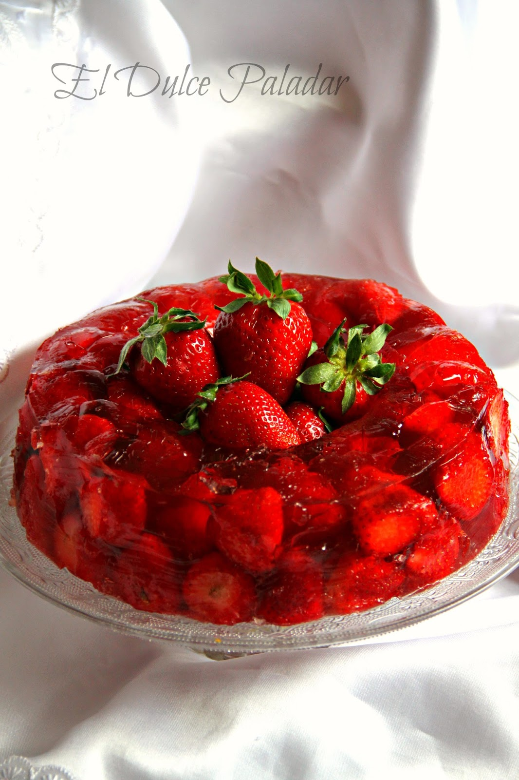 Gelatina de fresas - El dulce paladar