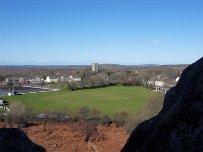 View from top of Roche Rock