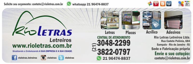 Rioletras Letreiros Letras de aço | Placas | Adesivos | Placas de homenagem | Sinalização |