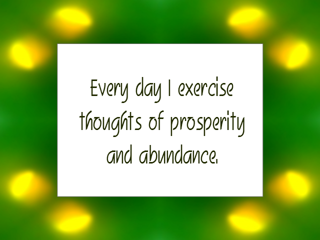 WEALTH / PROSPERITY affirmation