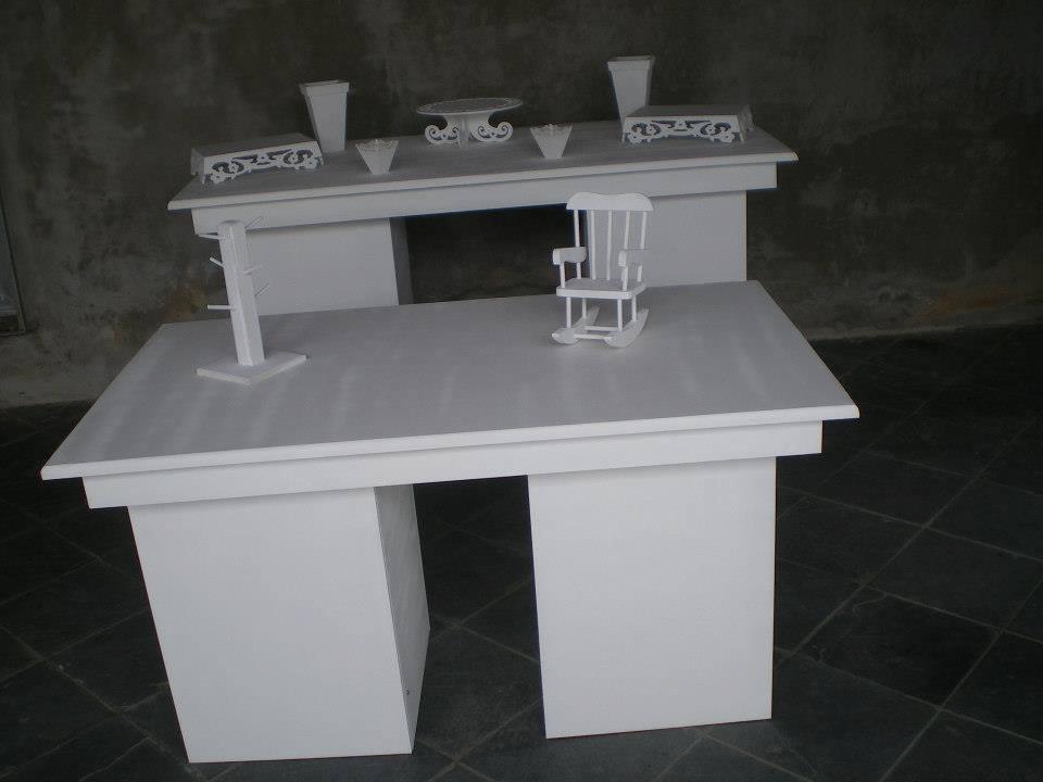 mesa de cubo liso