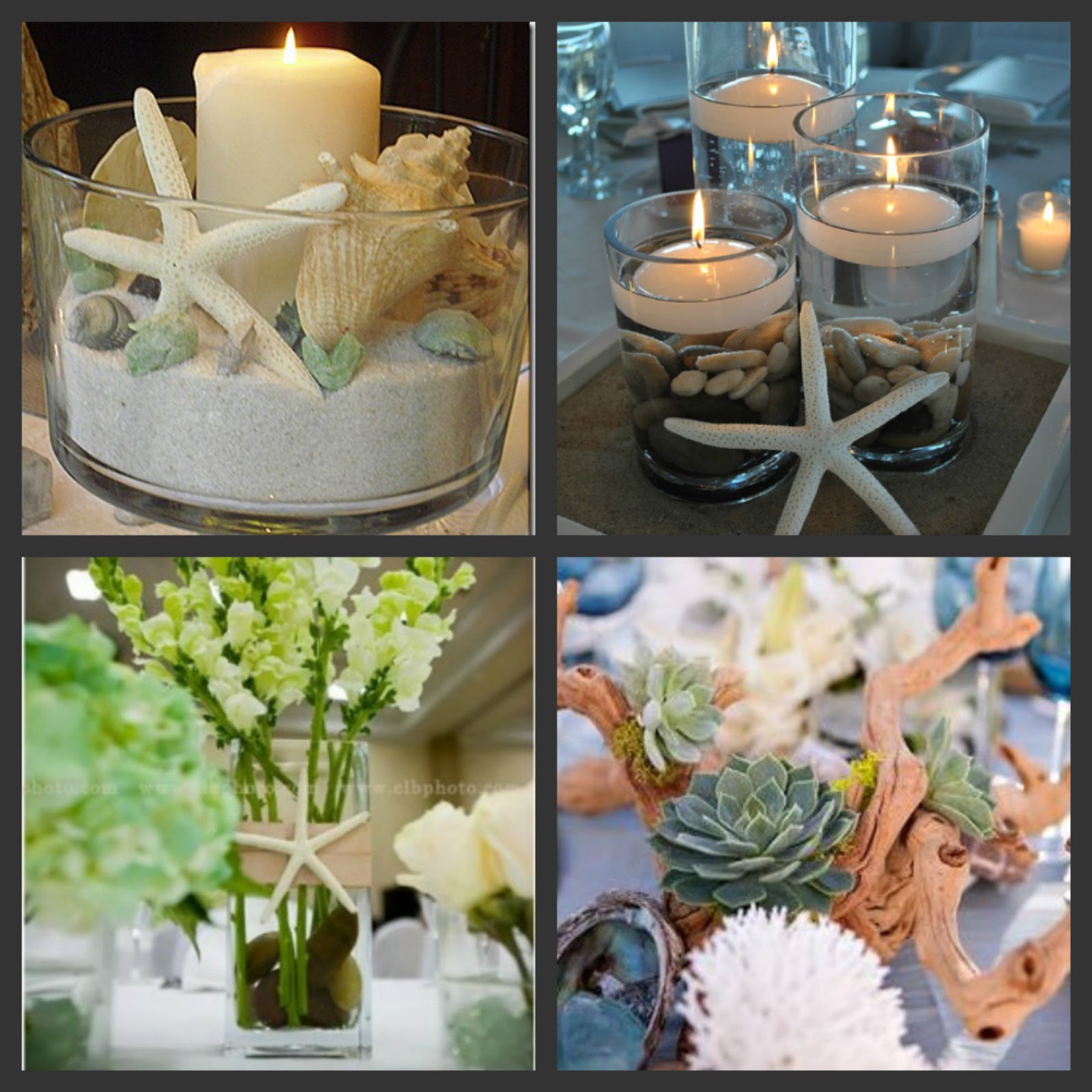 Weddings are fun beach wedding centerpiece ideas