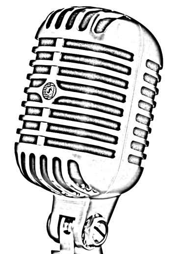 Line Art Microphone : Old school microphone tattoo outline imgkid