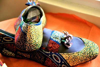 Mens African Print sandals - Denkyi - iloveankara.blogspot.co.uk