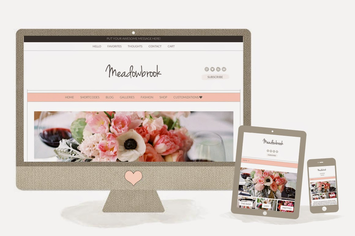 Meadowbrook - Creativemarket Modern Wordpress Theme