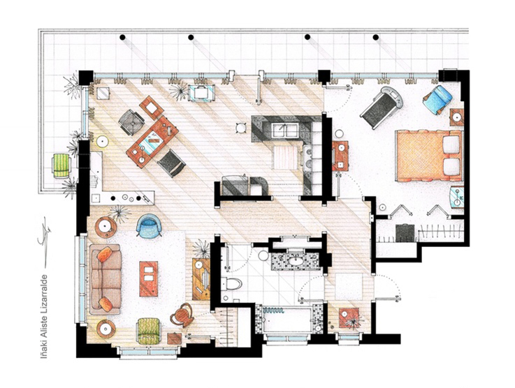 dexter's house plan