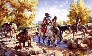 Quadro sobre os índios apache