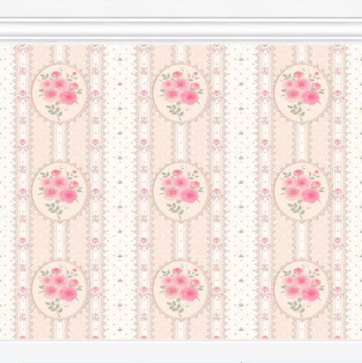 my sims 4 shabby chic wallpaper set by mysimlifefou