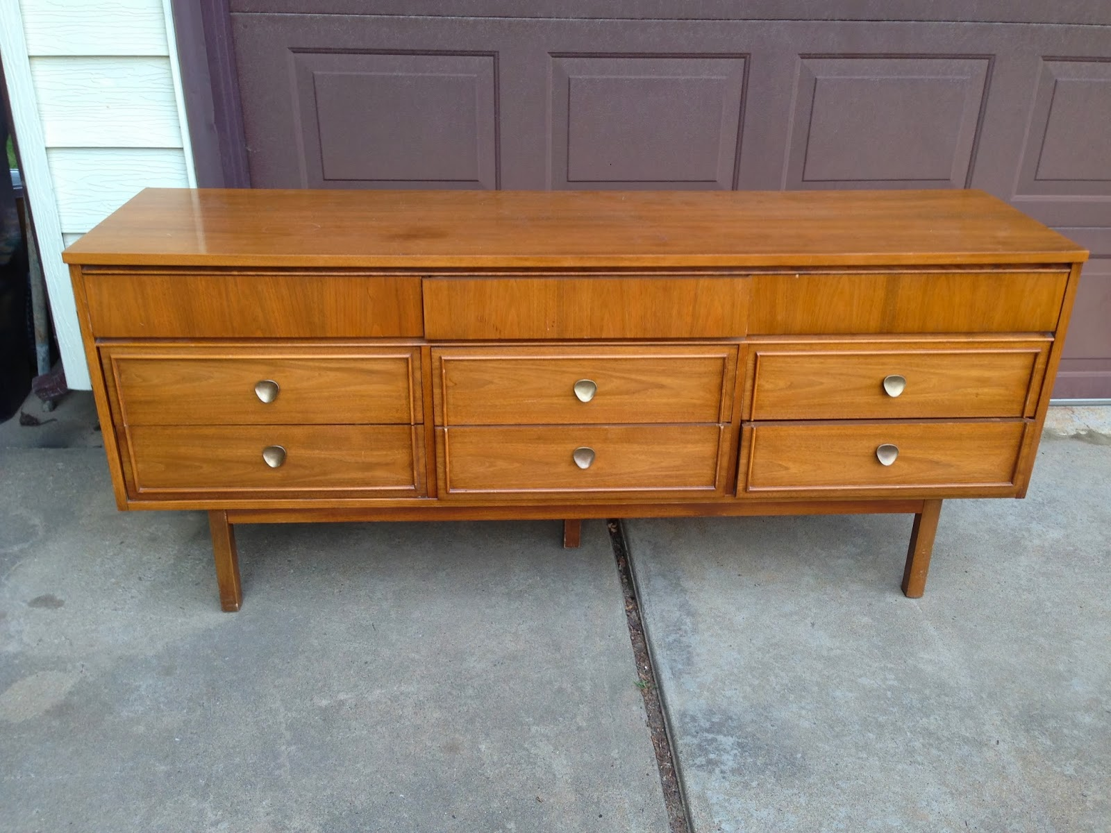 Large Mid-Century Dresser for TV Stand