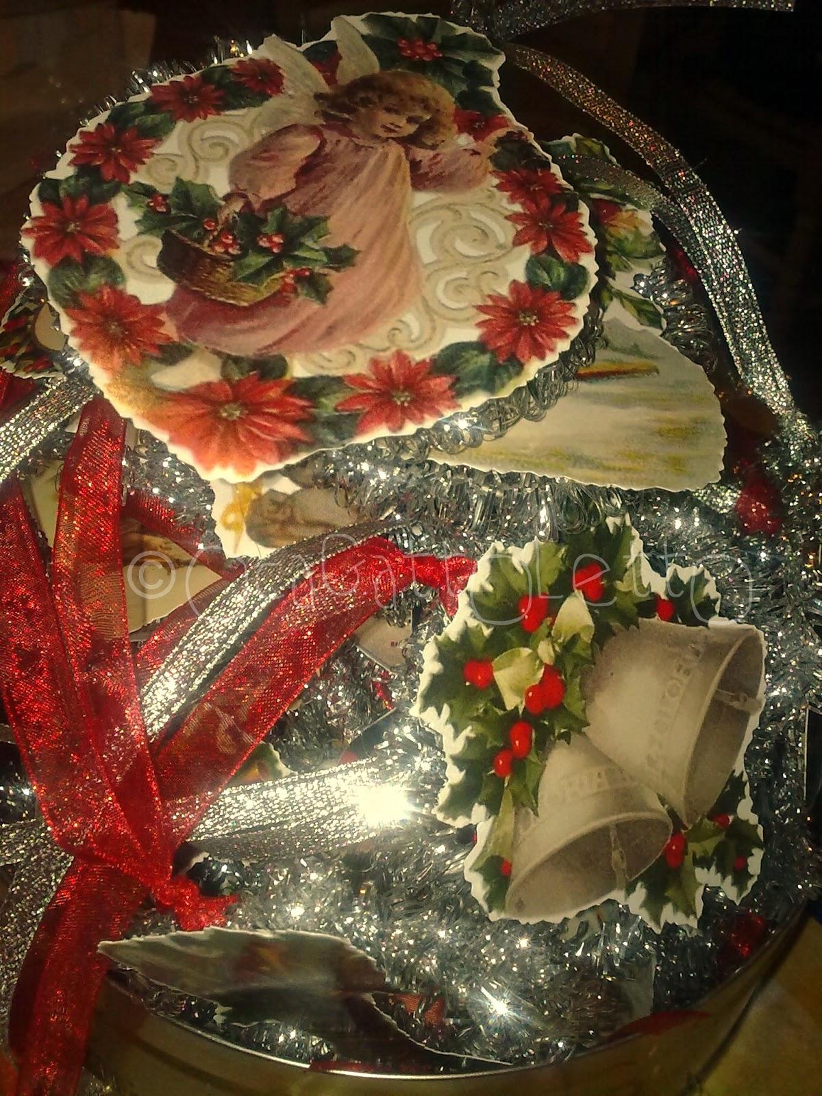 Ocagattoletto decorazioni natalizie vintage angeli per - Decorazioni vintage ...