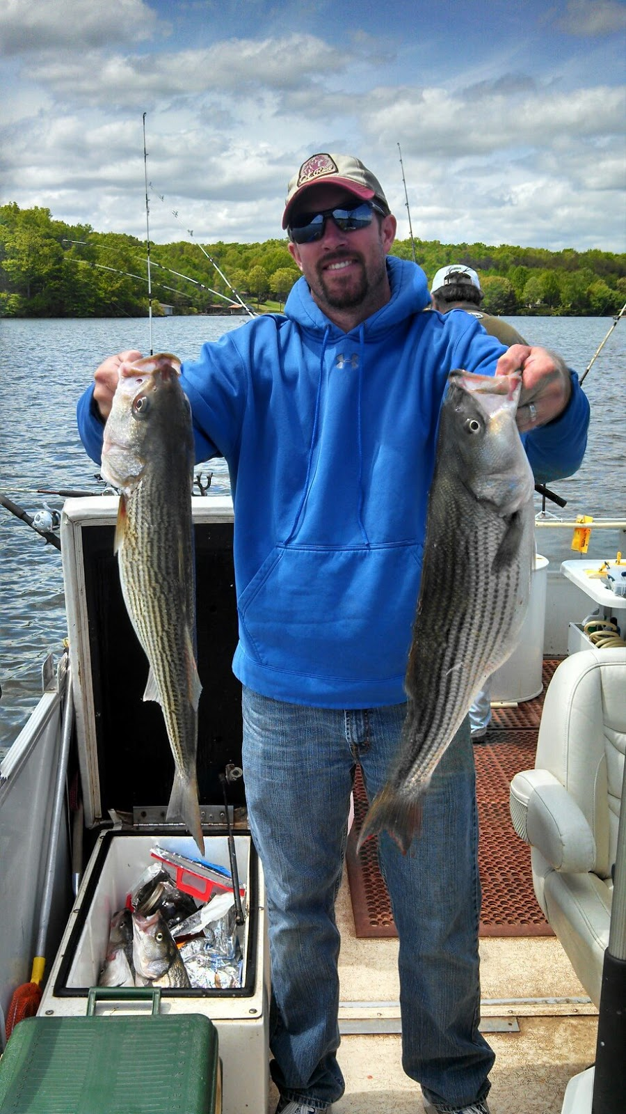 Striper report a few recent catches jim hemby guide service for Franks great outdoors fishing report