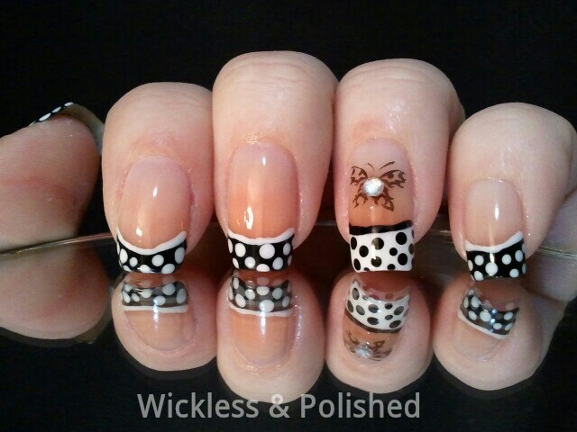 Wickless & Polished!: Tips - Black & Whote Polka Dot / TipFrench Tip ...
