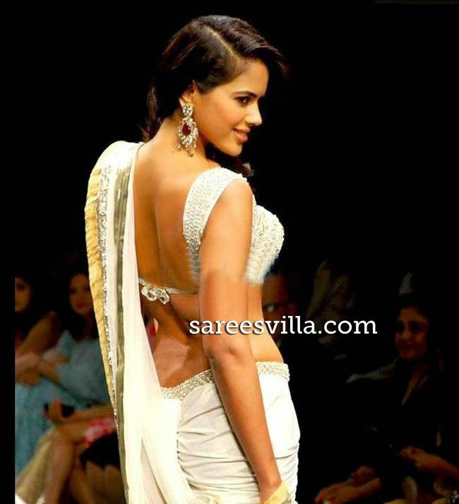 Sameera Reddy In Backless Blouse