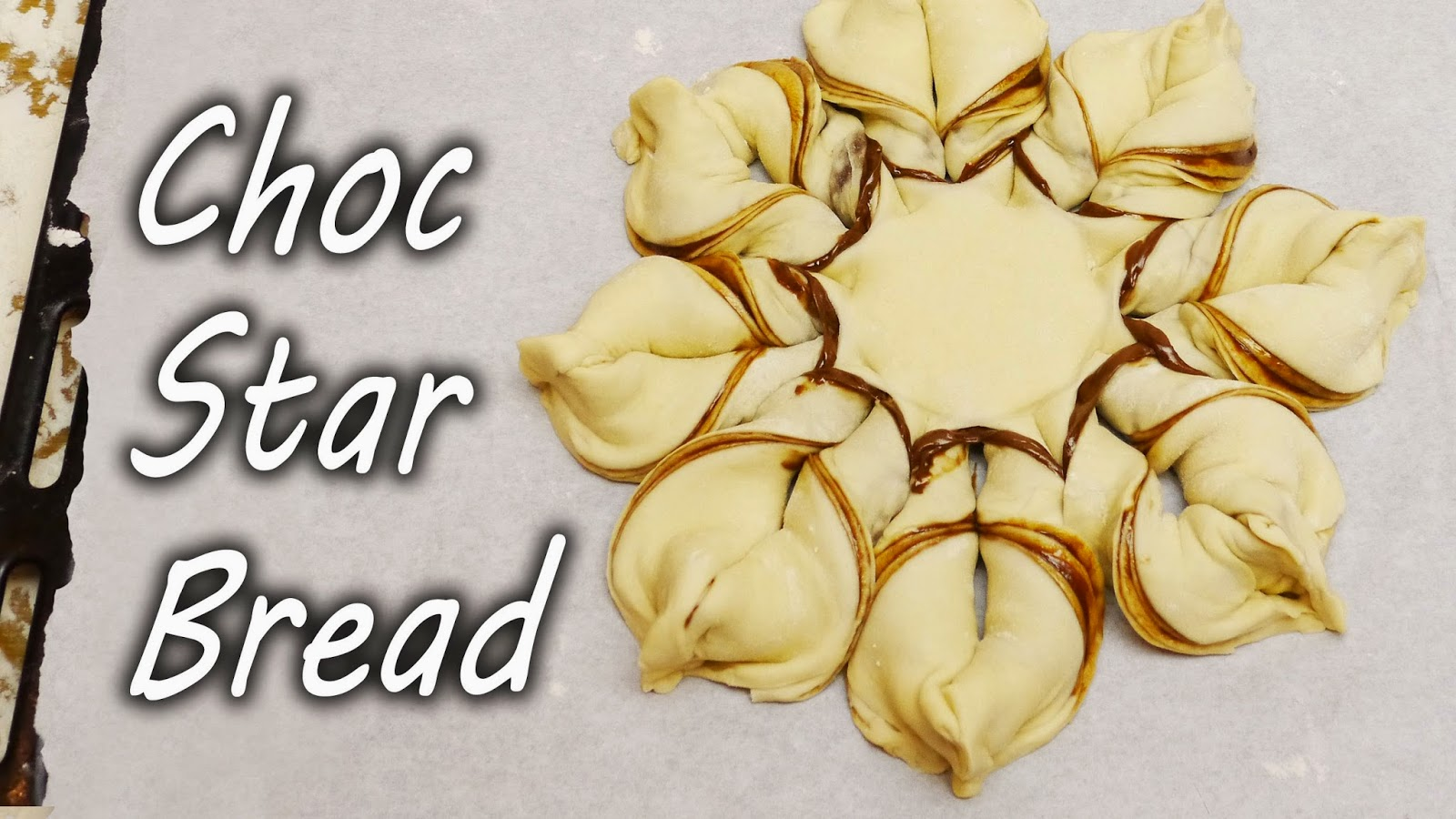 How to make chocolate star bread creative ideas - Make delicious sweet bread christmas ...