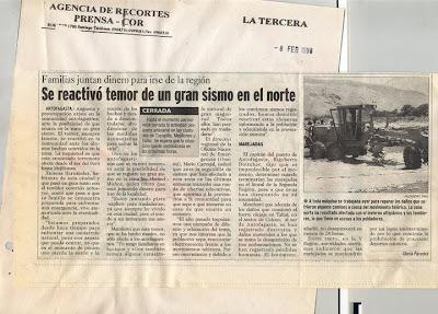 probabilidad de megaterremoto en el norte de chile
