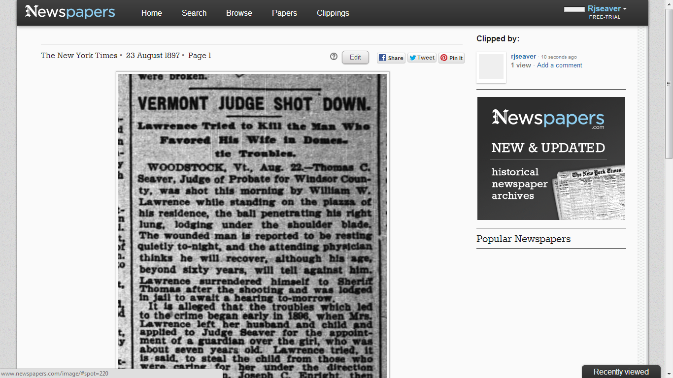 """research british newspapers online """"i have always been suspicious of claims that electronic resources can transform your research life, but an exception has to be made for the online archive of british library nineteenth-century newspapers."""