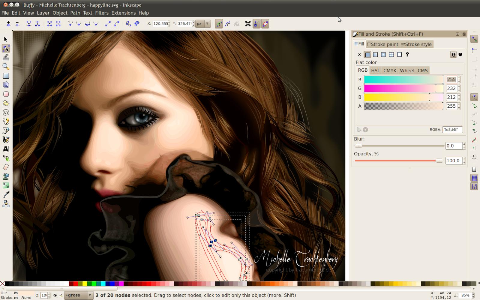 Curso gr tis de sublima o e filmes de recorte inkscape Inkscape software