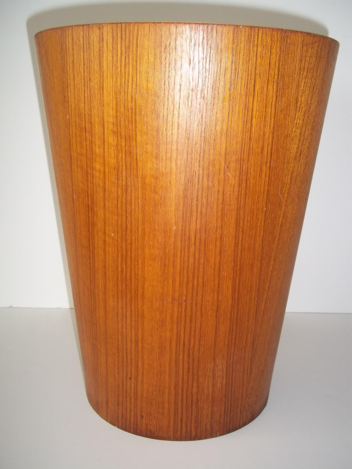 Modern20 mid century danish modern teak waste basket for Decoratives from waste