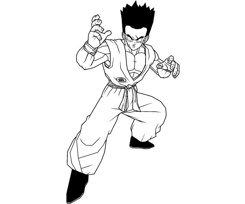 Printable Yamcha 5 Coloring Page