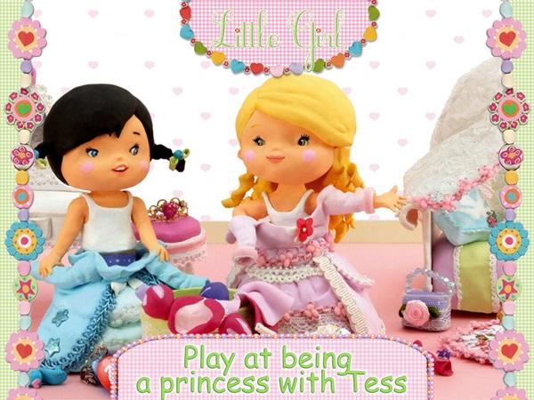 Little Girl Tess Plays At Being A Princess PC Full Español