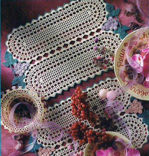 Ma passion le crochet set de table oval - Set de table crochet ...