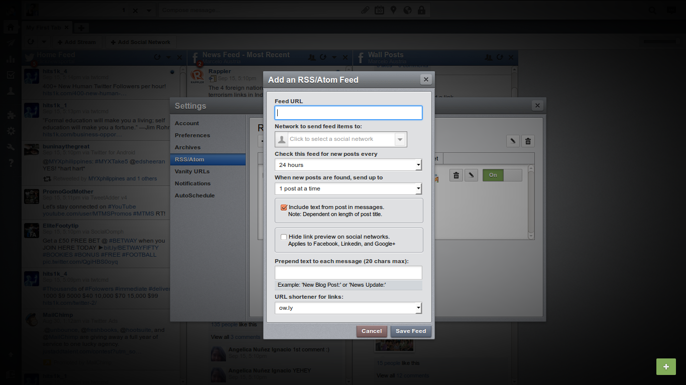 How to Auto Post the Blog to Facebook, Twitter, Google+ using Hootsuite