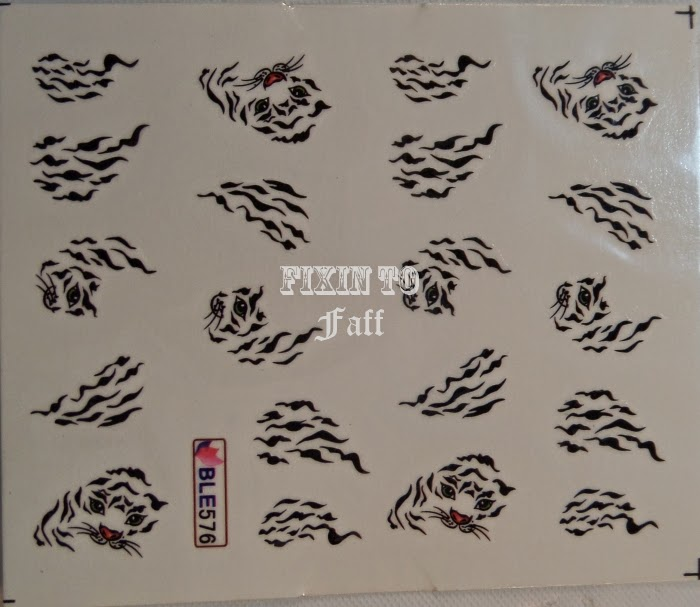Tiger print water decals born pretty store BLE576