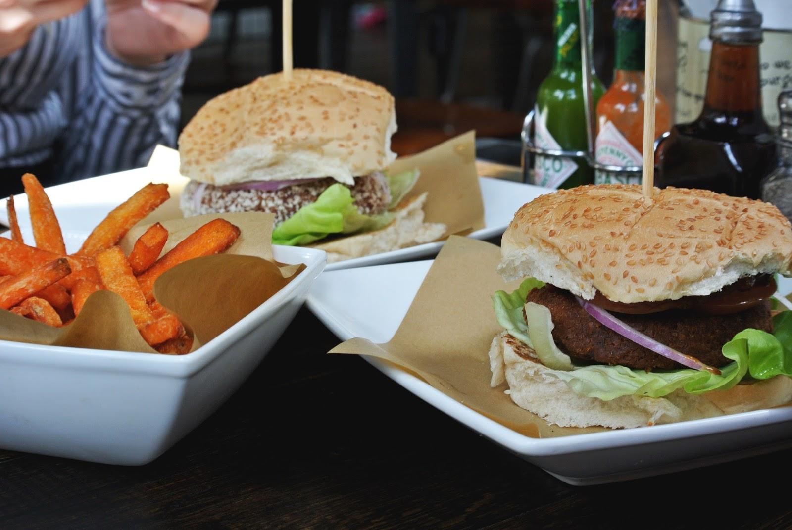 Vegan burgers at Handmade Burger Co