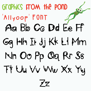 Fancy Font And Paper Circles From The Pond