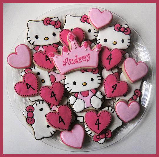 Hello Kitty Temalı Örnek Kurabiye Modelleri