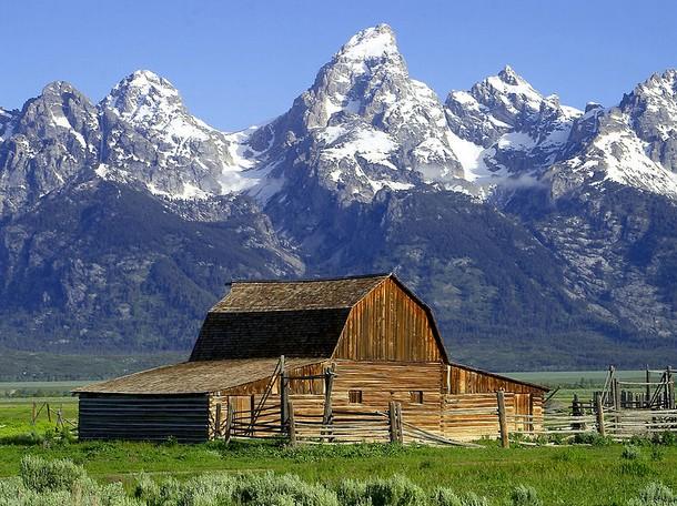 Wyoming John Moulton Barn, Mormon Row, Grand Teton National Park