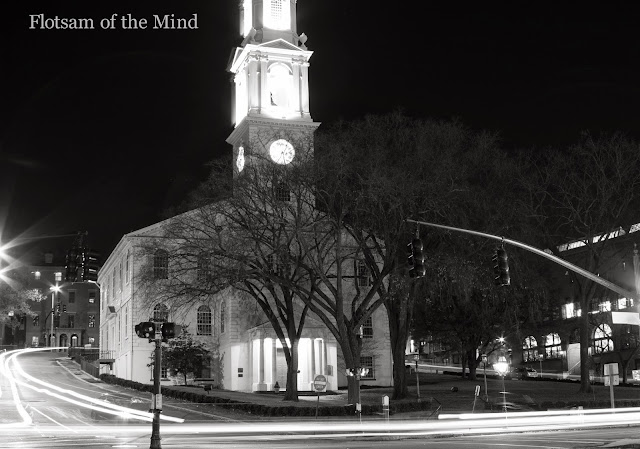 First Unitarian Church of Providence at Night - Flotsam of the Mind