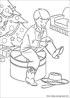 Imagine de desenat cu cizme de Craciun