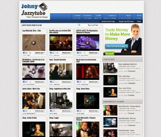 Johny Jazzytube Blogger Template