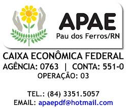 """""""AJUDE A APAE DE PAU DOS FERROS"""""""